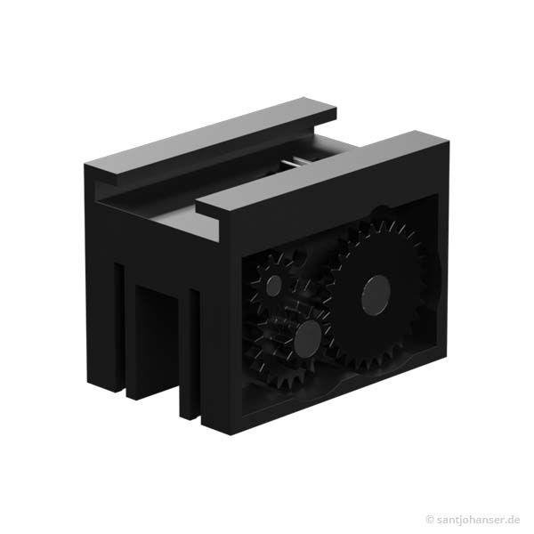 Zahnstangengetriebe m=0,5, schwarz