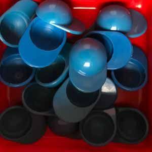 Kappe blau - Cap blue