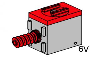 Motor 6V, rot (Sammlerstück)