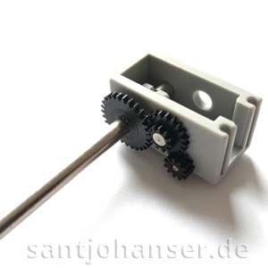 U-Getriebe m0,5 64,8:1 + U-Achse 160 Z28 m0,5
