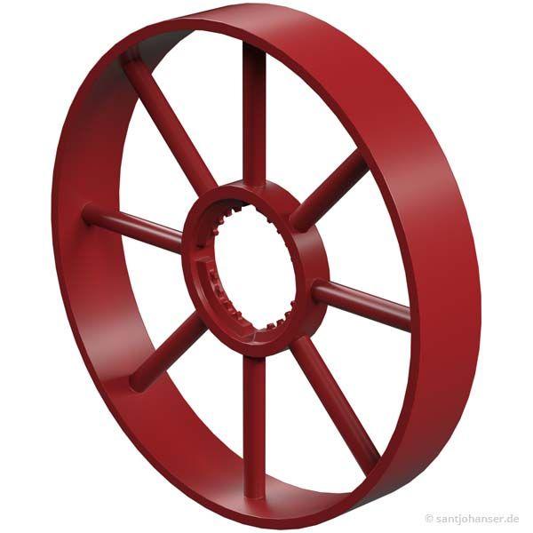 Speichenrad, rot