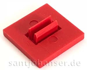 Bauplatte 15x15 rot - Building plate red